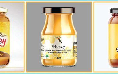 tem dán chai mật ong